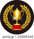 月桂冠と優勝カップ 25669348