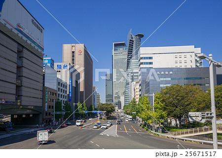 名古屋市中村区名駅都市風景 名駅通 下広井町 交差点 25671517
