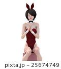 可愛いバニーガール perming3DCGイラスト素材 25674749