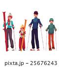 スキー 人々 人物のイラスト 25676243