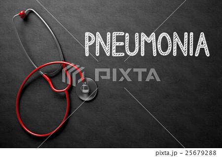 Chalkboard with Pneumonia Concept. 3D Illustration 25679288