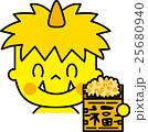 節分 鬼 福豆のイラスト 25680940