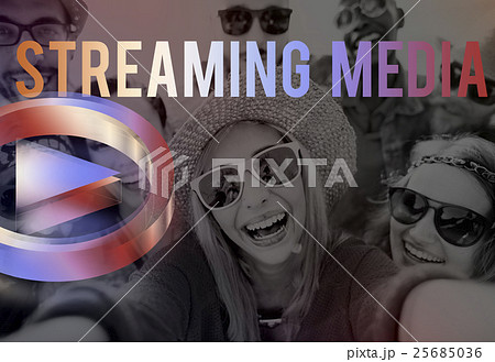 Digital Music Streaming Online Entertainment Media Conceptの写真素材 [25685036] - PIXTA