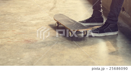 Man Skateboarder Lifestyle Relax Hipster Concept 25686090