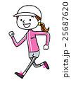 スポーツ:ジョギングする若い女性 25687620