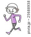 スポーツ:ジョギングするシニア女性 25688938
