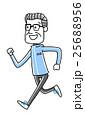 スポーツ:ジョギングするシニア男性 25688956