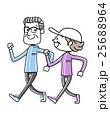 スポーツ:ウォーキングするシニア夫婦 25688964
