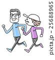 スポーツ:ジョギングするシニア夫婦 25688965