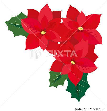 クリスマス ポインセチア イラスト