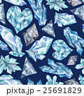 Blue Gems Watercolor Pattern 25691829