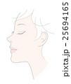 顔 女性 横顔のイラスト 25694165
