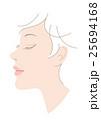 顔 女性 横顔のイラスト 25694168