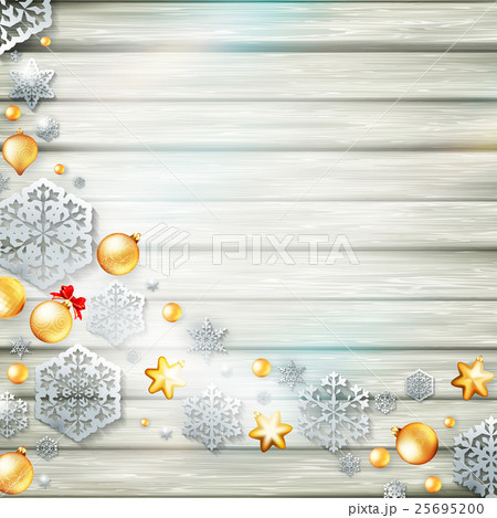 Christmas template with paper cutout. EPS 10 25695200