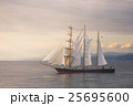 Beautiful sailboat at sunset 25695600