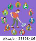運行 クリーニング 清掃中のイラスト 25698486