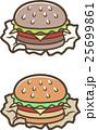 ファーストフード ハンバーガー ベクターのイラスト 25699861