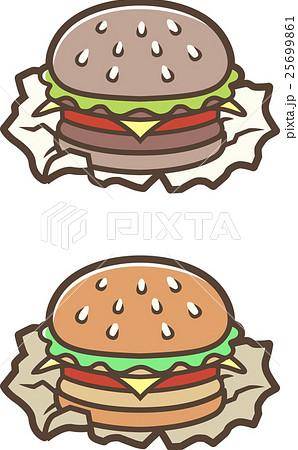 ファーストフードハンバーガー 25699861