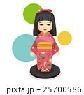 ベクター 日本人形 人形のイラスト 25700586