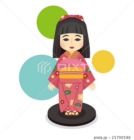 日本人形のイラスト素材 25700586 Pixta