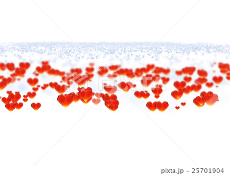 Red gem hearts isolated on white backgroundのイラスト素材 [25701904] - PIXTA