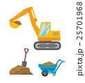 土木工事のセット 25701968