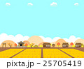 農村の水田と紅葉 25705419