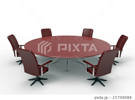 Conference table, 3D renderingのイラスト素材 [25709088] - PIXTA
