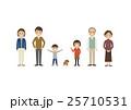 3世代 家族 犬のイラスト 25710531