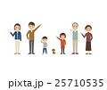 3世代 家族 犬のイラスト 25710535