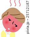 女性 風邪 インフルエンザのイラスト 25712187