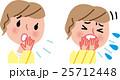 女性 咳 風邪のイラスト 25712448