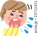 女性 咳 風邪のイラスト 25712451