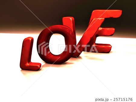 Dimensional inscription of LOVE. 3D illustration.のイラスト素材 [25715176] - PIXTA