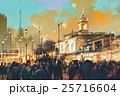 都市 公園 人々のイラスト 25716604