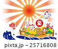 酉年 宝船 年賀状のイラスト 25716808