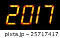 Digital display shows 2017 25717417