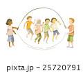 縄跳びをする子供たち(外国人) 25720791