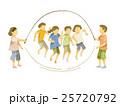 縄跳びをする子供たち(日本人) 25720792
