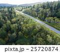 北海道の森林(中山峠付近) 空撮 25720874