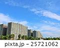 秋の青空と綺麗な街のマンション風景 25721062