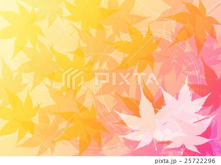 グラデーション紅葉ピンクよこ(左カエデa) 25722296