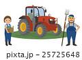 農家の夫婦と農業用トラクター 25725648