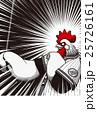 2017年賀状テンプレート「野球ニワトリ」 賀詞・添え書きなし ハガキ縦 赤&黒 25726161