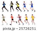 marathon runners illustration 25726251