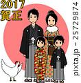 家族 ニワトリ 年賀状のイラスト 25729874