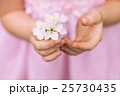 hands of the girl and spring flower close up. 25730435