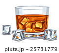 ウィスキー ウイスキー ガラス製のイラスト 25731779