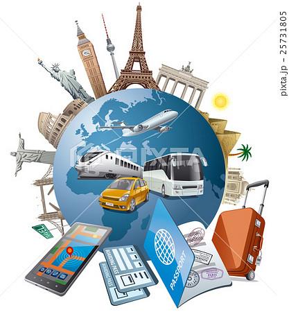 illustration of travel and journeyのイラスト素材 [25731805] - PIXTA