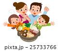 鍋料理 家族 笑顔のイラスト 25733766